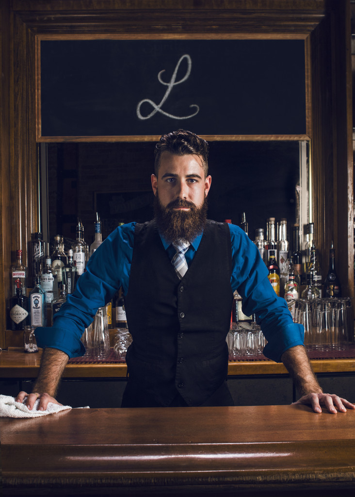 Long Rifle Bartender - Shift Visuals Commercial Photography Green Bay WI. Appleton, Oshkosh, Fox Valley, Milwaukee, Madison, LaCrosse, Wisconsin